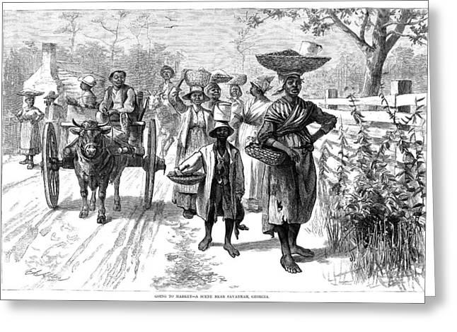 Georgia Market, 1875 Greeting Card by Granger