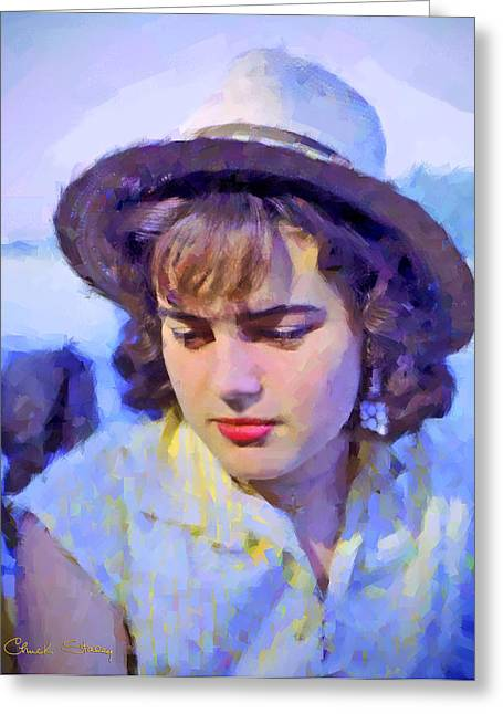 German Girl On The Rhine Greeting Card by Chuck Staley