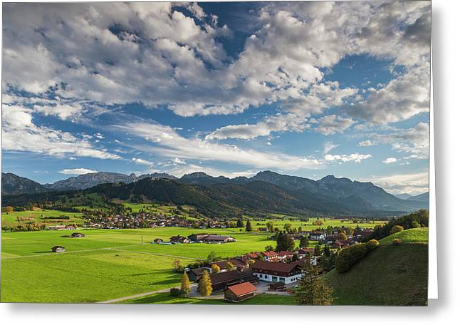 Germany, Bavaria, Berghof, Alpine Greeting Card by Walter Bibikow