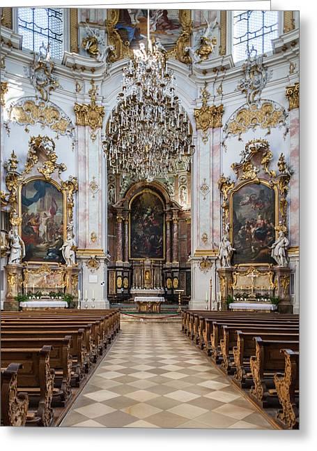 Germany, Bavaria, Ettal, Kloster Ettal Greeting Card