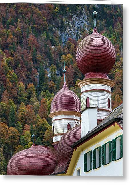 Germany, Bavaria, Konigsee, St Greeting Card by Walter Bibikow