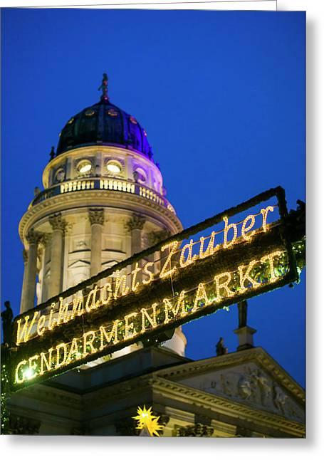 Germany, Berlin, Gendarmenmarkt Greeting Card by Walter Bibikow