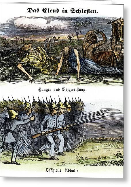 Germany Starvation, 1844 Greeting Card