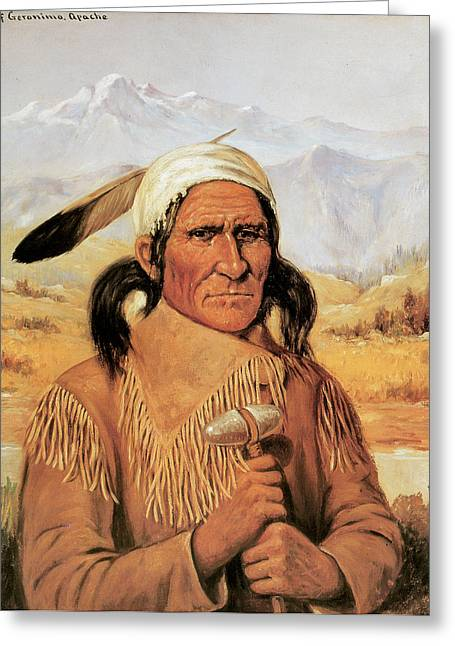 Geronimo Greeting Card by Henry Cross