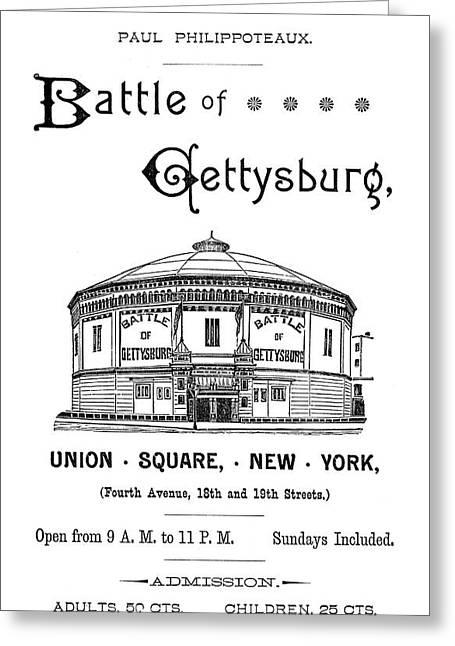 Gettysburg Cyclorama, C1885 Greeting Card by Granger