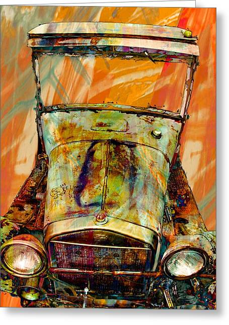 Vehicles Greeting Card featuring the photograph Ghost Of 1929 by Aaron Berg