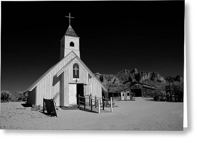 Ghost Town Church Greeting Card by Wendell Thompson