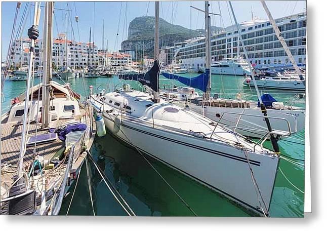 Gibraltar.   Marina Bay Greeting Card by Ken Welsh