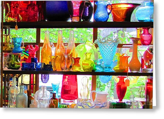 Gifts Of Glass Greeting Card by Jeanne Porter