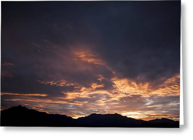 Gila River Indian Sunset Greeting Card by Anthony Citro