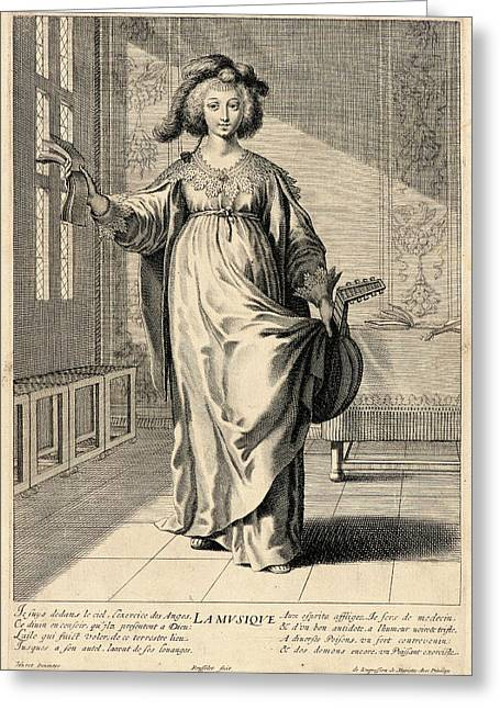 Gilles Rousselet French, 1610-1686 After Grégoire Huret Greeting Card by Litz Collection