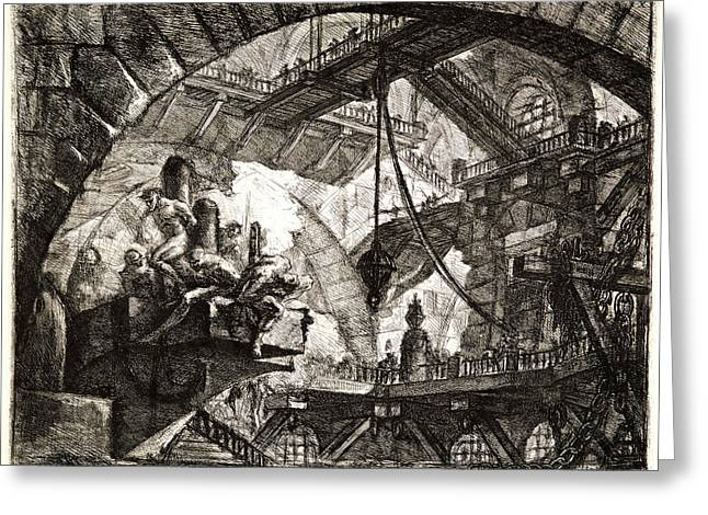 Giovanni Battista Piranesi Italian, 1720 - 1778. Prisoners Greeting Card by Litz Collection