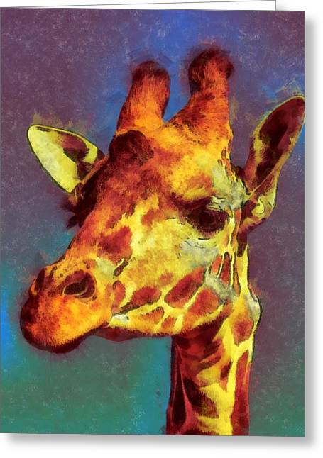 Giraffe Abstract Greeting Card