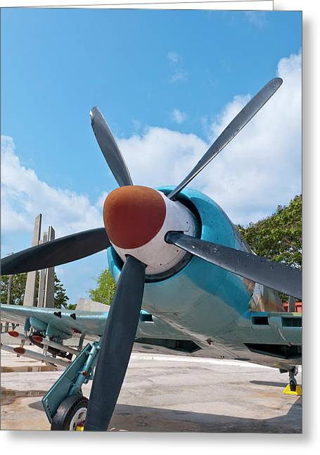 Giron, Cuba, At Bay Of Pigs Museum Greeting Card by Bill Bachmann