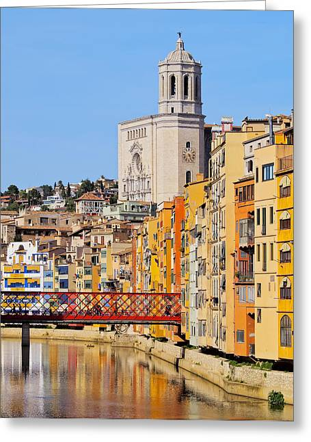 Girona Greeting Card by Karol Kozlowski