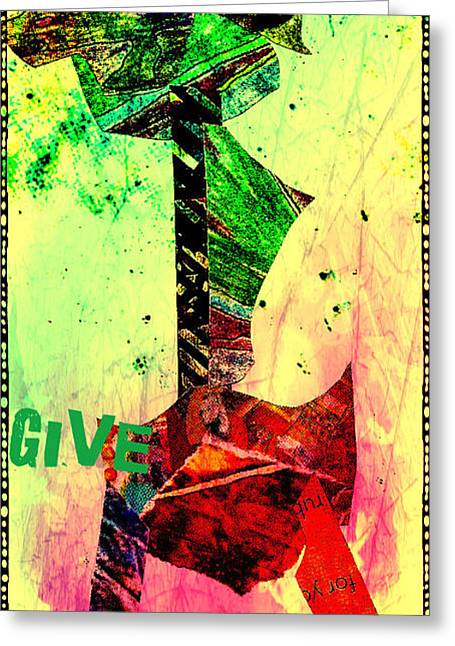 Give Greeting Card by Currie Silver