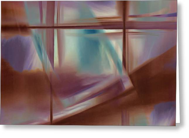 Glass Abstract Greeting Card by Carol Leigh