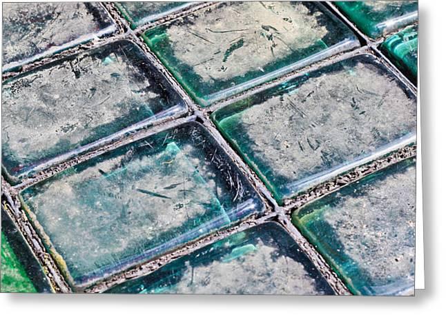 Glass Bricks Greeting Card by Tom Gowanlock