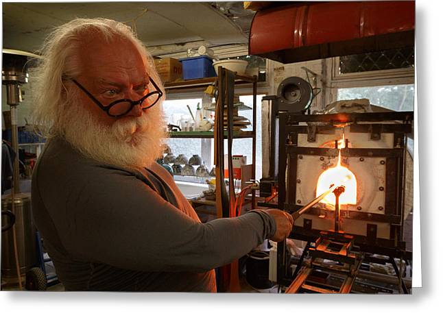 Glass Furnace Greeting Card by Paul Indigo