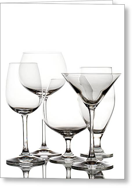 Glassware Greeting Card by Alexey Stiop