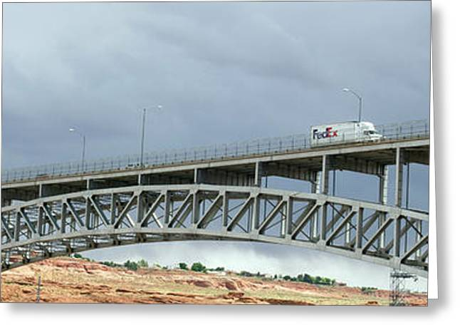 Glen Canyon Dam Bridge Greeting Card by Jim West