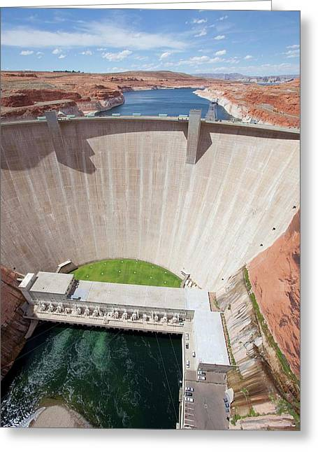 Glen Canyon Dam Greeting Card by Peter Menzel