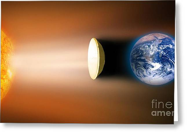 Global Warming Sun Shield, Artwork Greeting Card