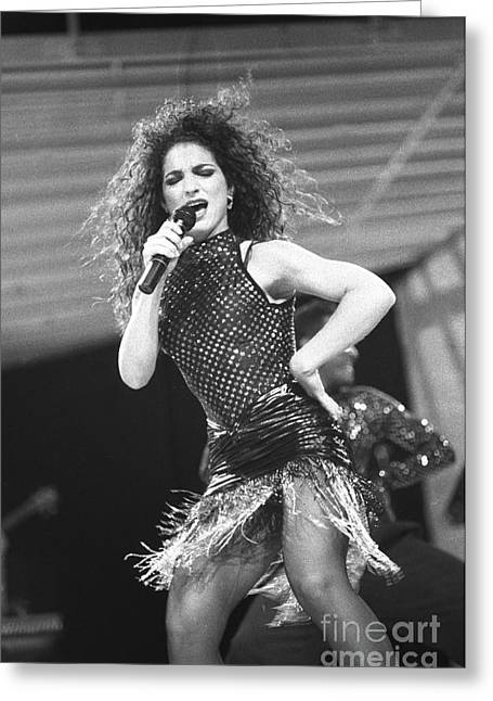 Gloria Estefan And The Miami Sound Machine Greeting Card by Concert Photos