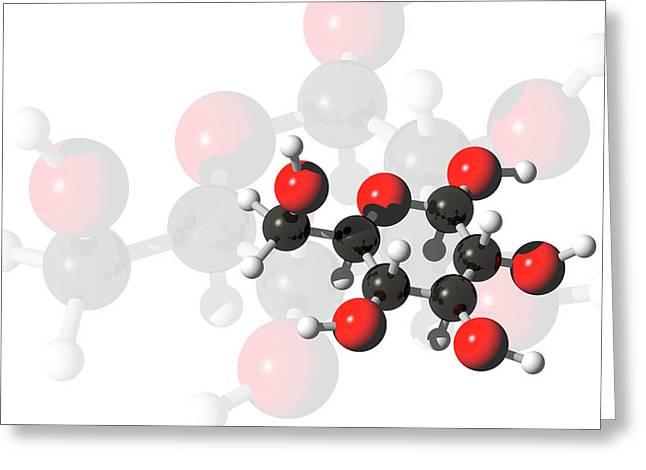 Glucose Molecules Greeting Card by Carol & Mike Werner