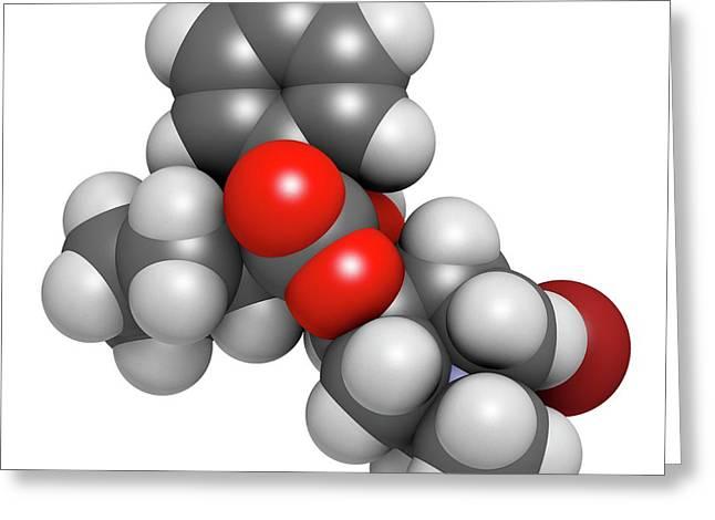 Glycopyrronium Bromide Copd Drug Molecule Greeting Card