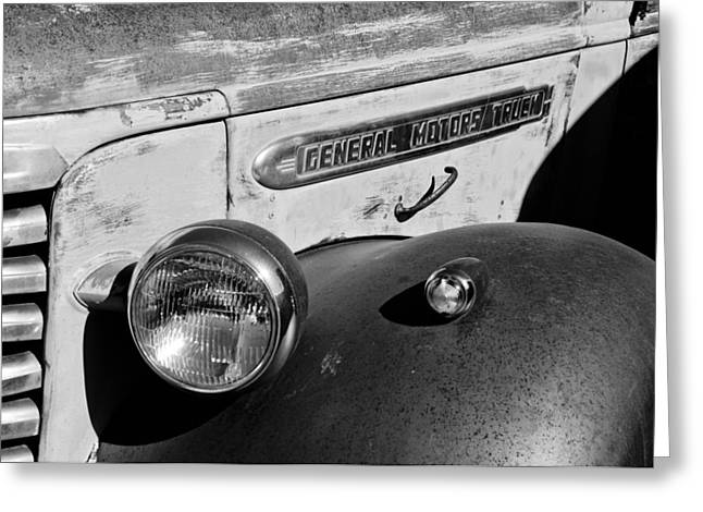 Gmc Truck Side Emblem Greeting Card by Jill Reger