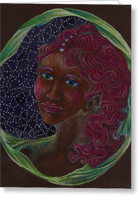Goddess In The Window To The Sky Greeting Card