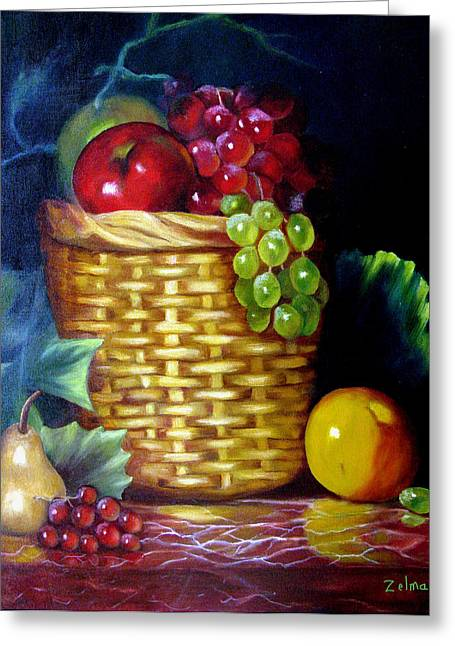 God's Bounty Greeting Card by Zelma Hensel