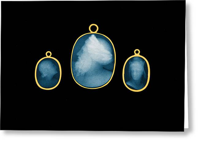 Gold-mounted Cameos, X-ray, 1896 Greeting Card