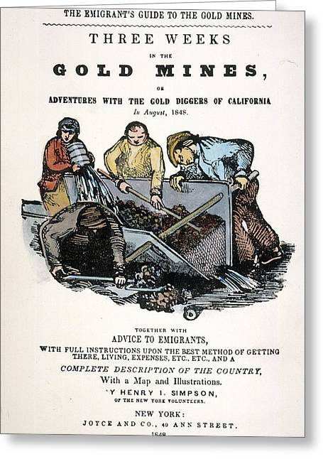 Gold Rush Guidebook, 1848 Greeting Card by Granger