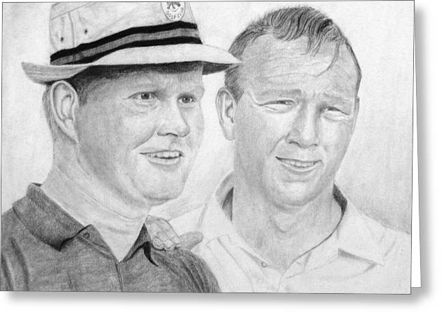 Golden Bear And The King Greeting Card