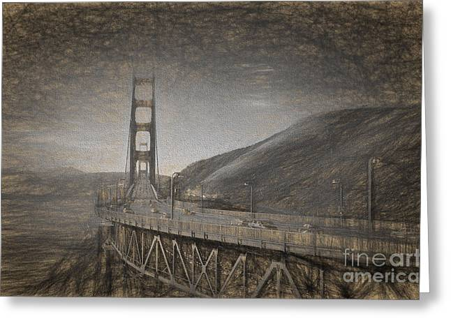 Golden Gate Bridge Greeting Card by Carsten Reisinger