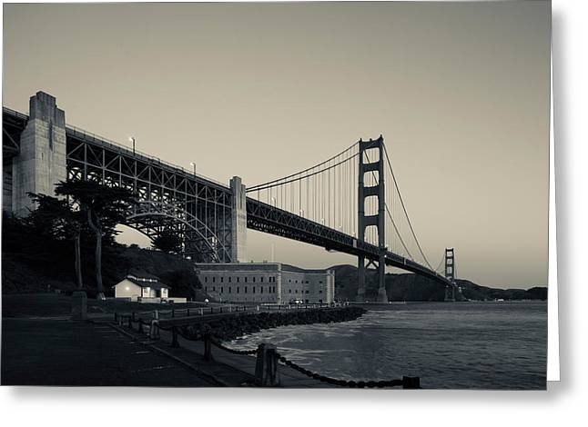 Golden Gate Bridge From Fort Point Greeting Card