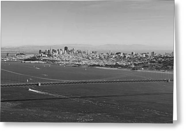 Golden Gate Bridge Panorama Greeting Card by Twenty Two North Photography