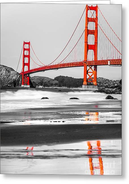 Golden Gate - San Francisco - California - Usa Greeting Card by Luciano Mortula