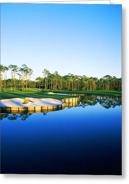 Golf Course At The Lakeside, Regatta Greeting Card