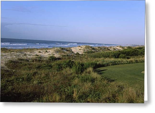 Golf Course At The Seaside, Kiawah Greeting Card by Panoramic Images