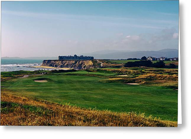 Golf Course On Half Moon Bay Greeting Card by Mountain Dreams