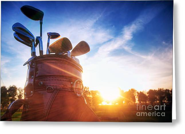Golf Gear Greeting Card by Michal Bednarek