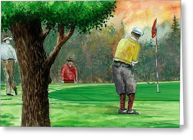 Golf Outing Greeting Card by Steven Schultz
