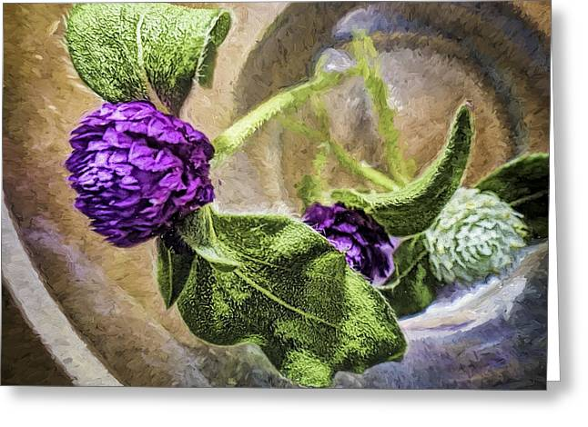 Gomphrena In A Glass Greeting Card