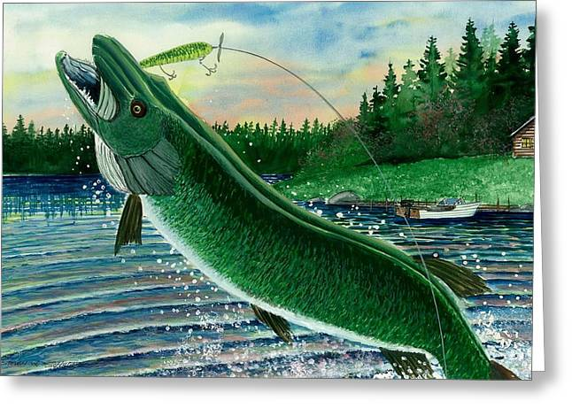 Gone Fishing Greeting Card by Steven Schultz