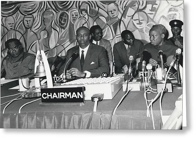 �good Neighbors� Conference, Dares Salaam, Tanzania Greeting Card by Retro Images Archive