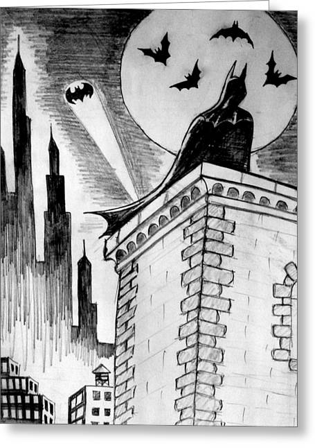 Gotham  Greeting Card by Salman Ravish