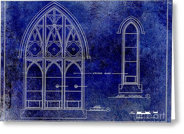 Gothic Window Detail Greeting Card by Jon Neidert